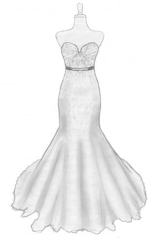 A bride 39 s design design your own wedding gown for Design own wedding dress
