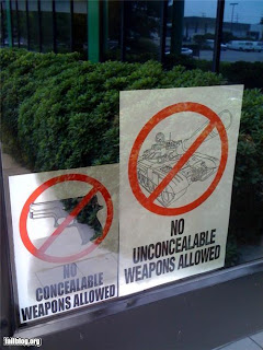 funny weapons fail picture no concealable