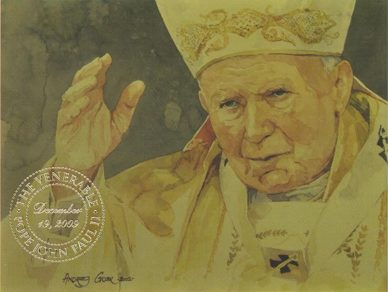 Bl. Jan Pawel II w kolorze trydenckiego Jezusa