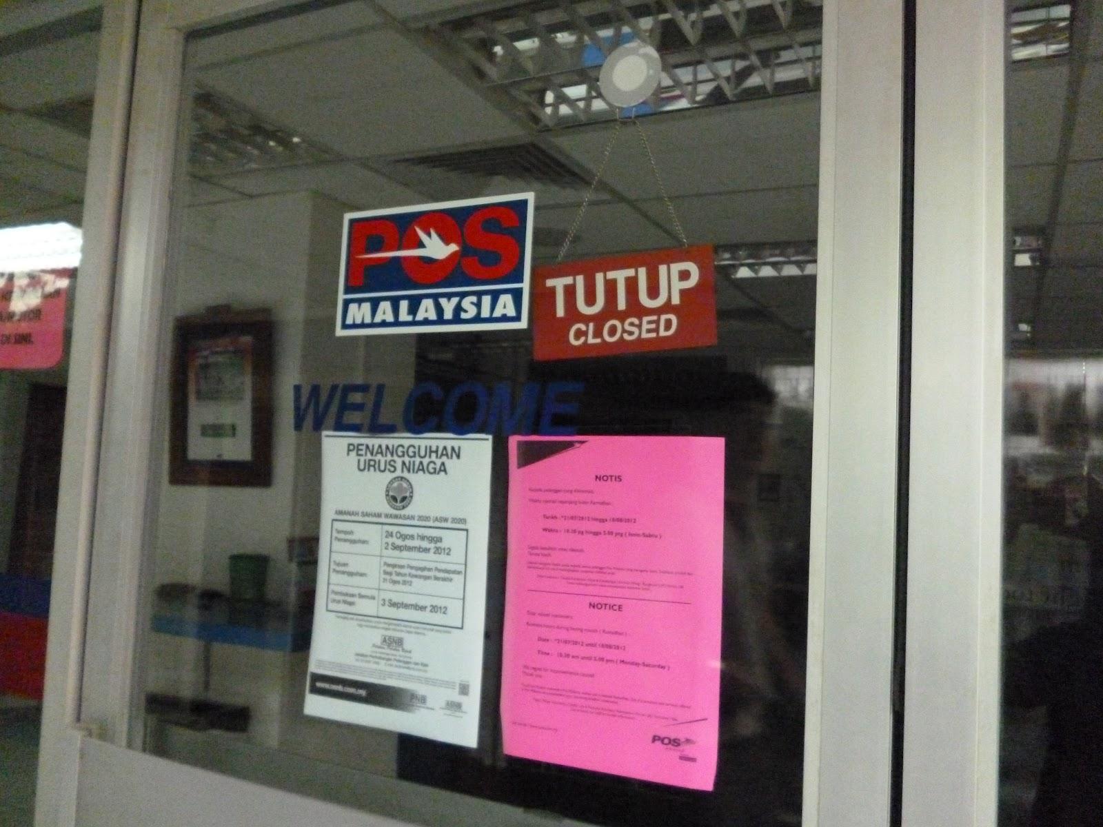 MALAYSIA POST OFFICE NOTICE Princess Cindyrina