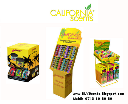 California Scents *Odorizante Auto cu miros de guma turbo*best seller