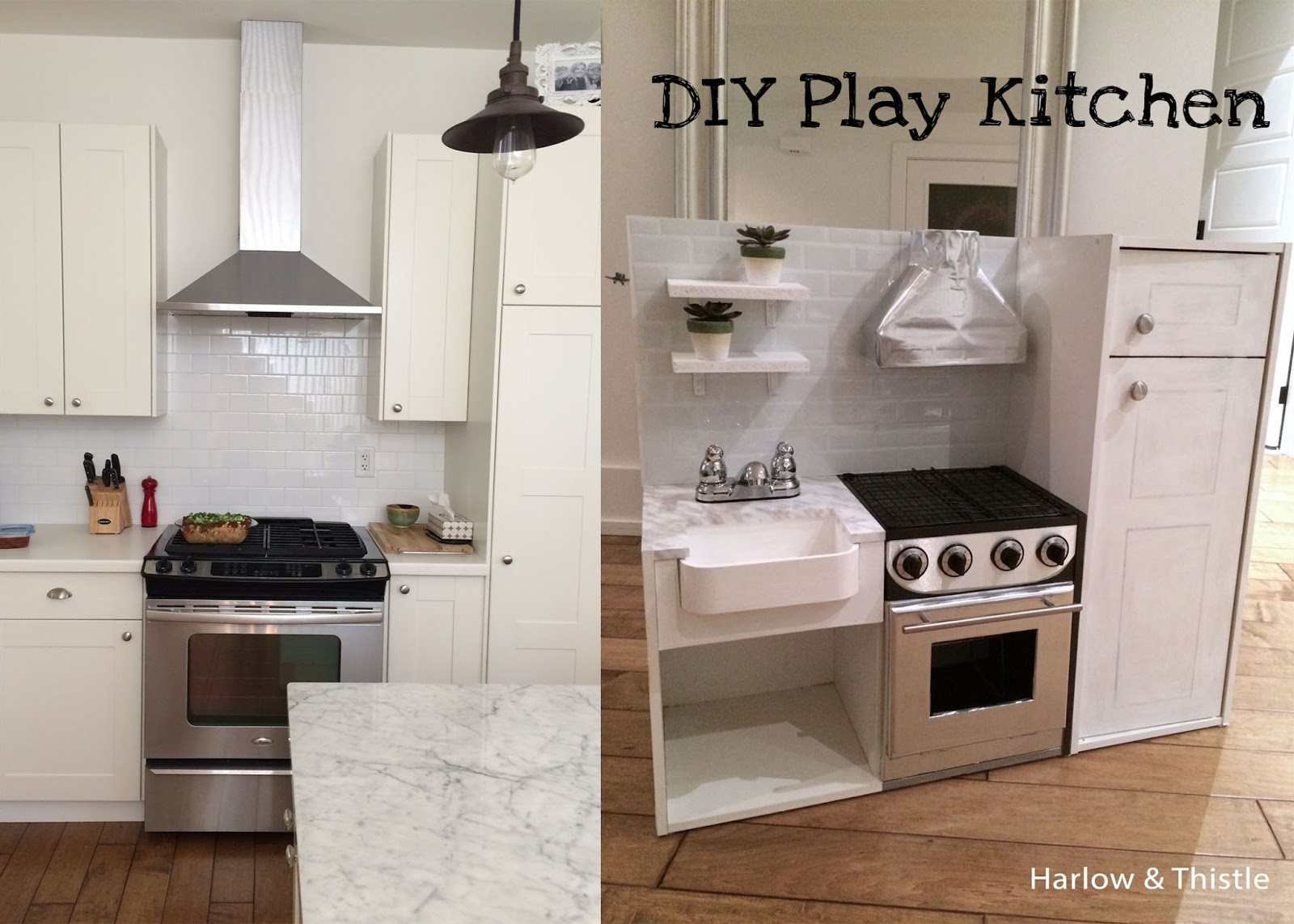 Diy play kitchen harlow thistle home design for Diy play kitchen ideas