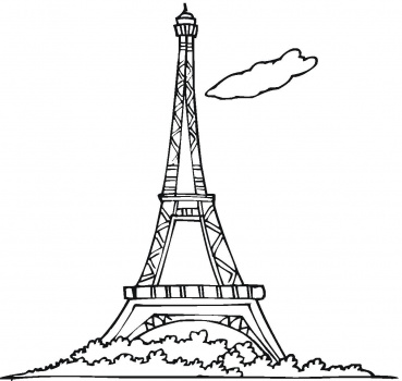 eiffel tower coloring page - Paris Eiffel Tower Coloring Pages