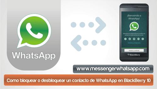 Como bloquear o desbloquear un contacto de WhatsApp en BlackBerry 10