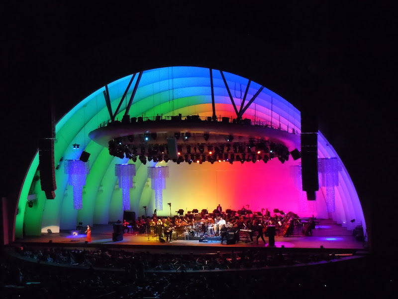 Hollywood Bowl opening night lights