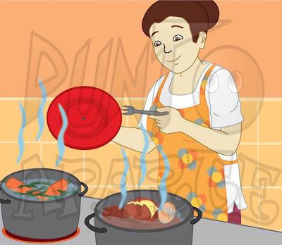 Punto aparte lustraciones para libros educativos for Cocinar imagenes animadas