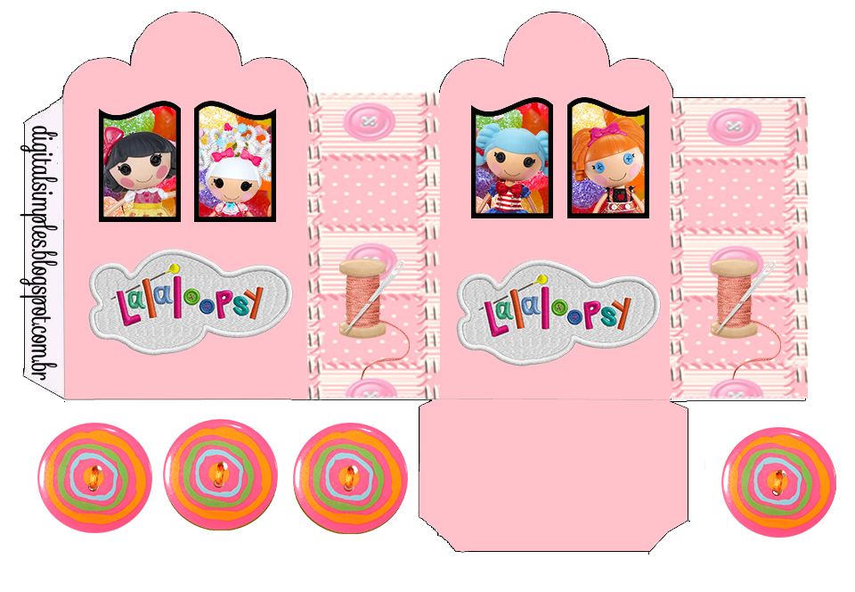 Lalaloopsy: Princess Carriage Shaped Free Printable Boxes.