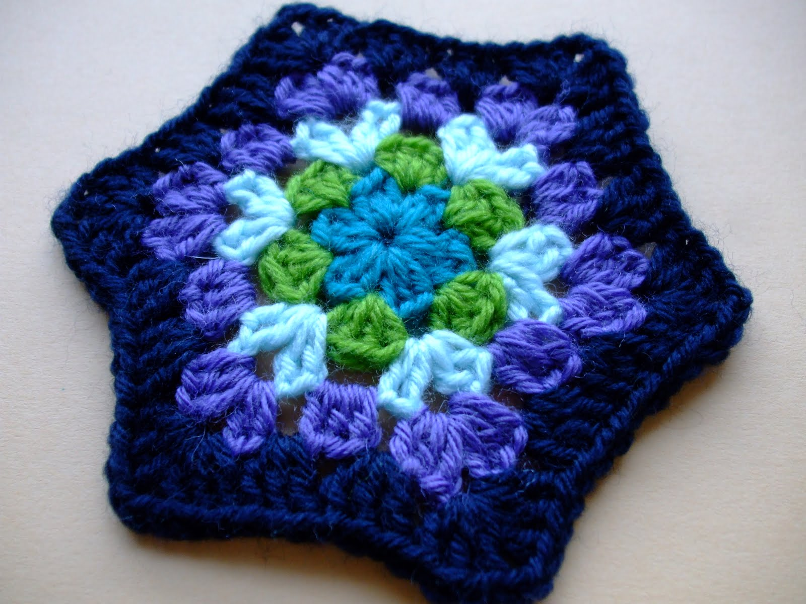 Hexagon Baby Sweater- Bev's Version