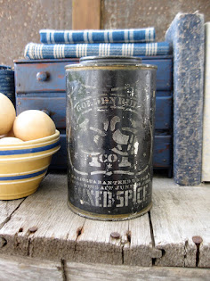 early stenciled spice tin