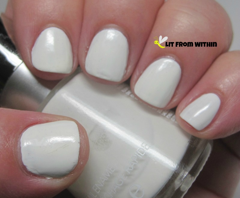 Revlon Spirit, a lovely fast-drying creamy, shiny white.