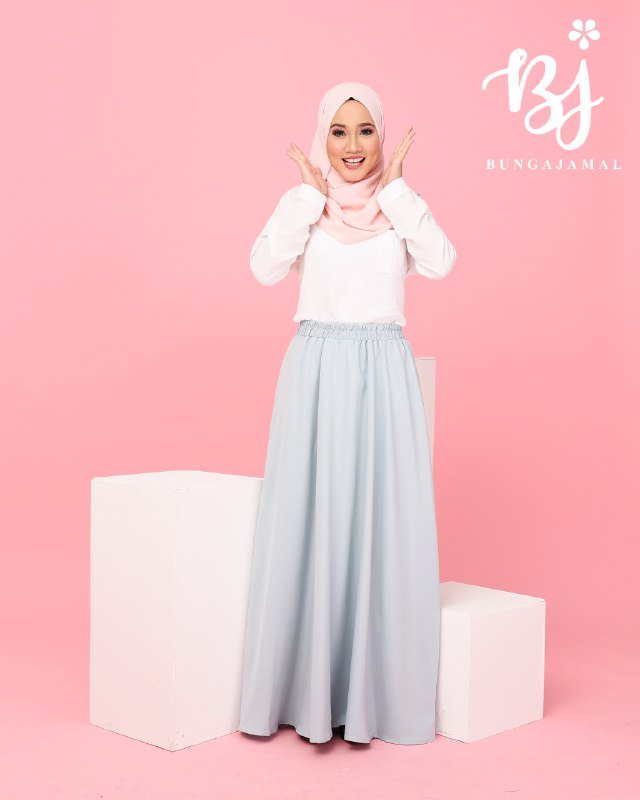 Skirt Maxi Plain Full Lining