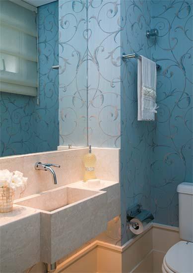 decoracao lavabo papel de parede : decoracao lavabo papel de parede:Lavabos!!! – Jeito de Casa – Blog de Decoração