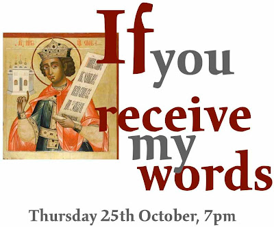 Illumination Concert: If you receive my words, Thursday 25th October 2012, 7pm