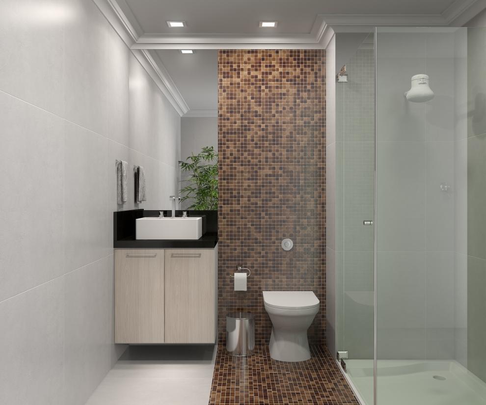 Comprando nosso Apê  Inspirações banheir -> Banheiros Com Pastilhas Atras Do Vaso