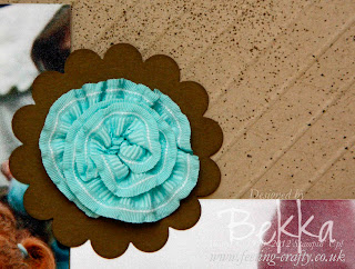 Stampin' Up! Ruffled Ribbon flower by Bekka www.feeling-crafty.co.uk
