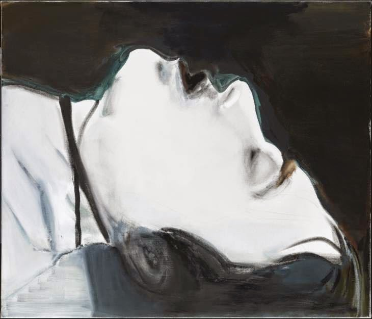 Painting of the corpse of Ulrike Meinhof