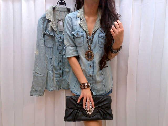 Blouse Denim Jeans Kode : M-1000234