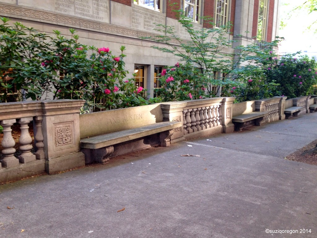 Central Library wall and benches