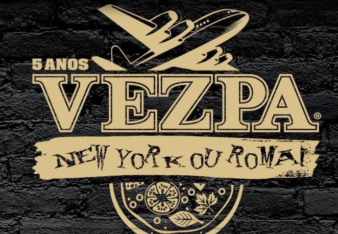 Promoção 5 Anos Vezpa Pizzas: NY ou Roma?