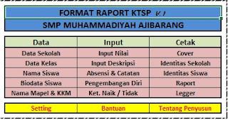 APLIKASI MEMBUAT RAPORT DAN DAFTAR NILAI SMP KTSP 2015-2016