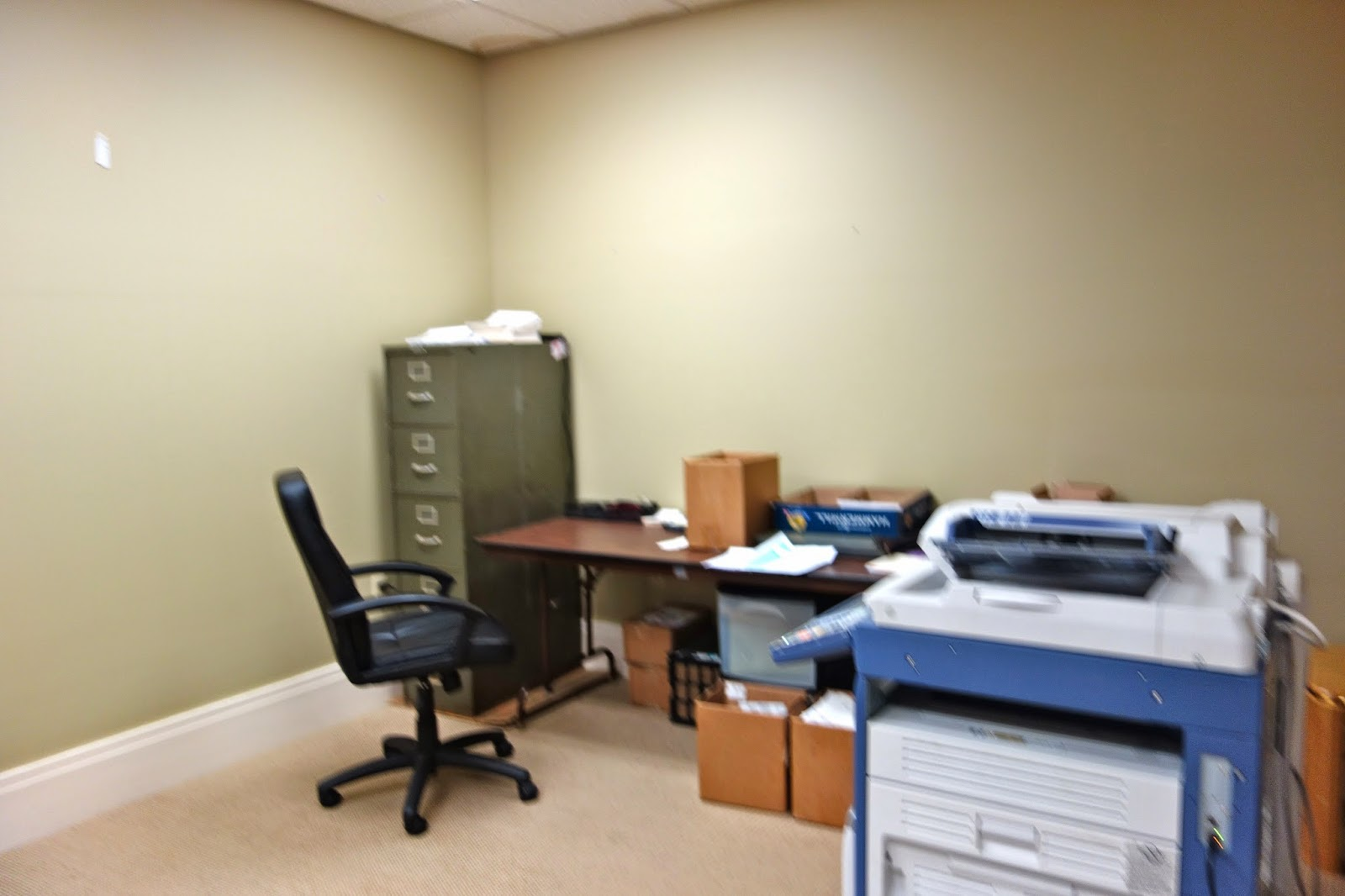 tanners dream office good layout. Makeshift Office. The Inner Office Needed To Be Refreshed. When Church First Rented Space Tanners Dream Good Layout