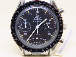 OMEGA SPEEDMASTER CHRONOGRAPH REDUCED MOONWATCH BLACK DIAL PATINE INDEX - AUTOMATIC