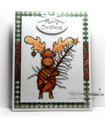 North Coast Creations Stamp set: Christmas Tree Maxwell, Our Daily Bread Designs Custom Dies: Stitched Ovals, Circle Ornaments