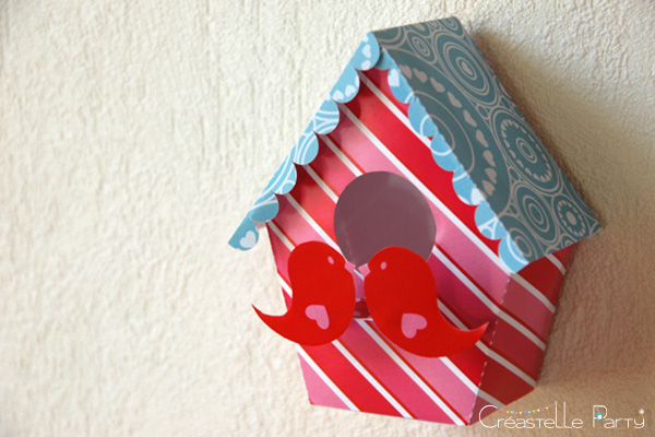 Valentine's day sweet table Saint-Valentin - Love Birds - nichoir papier - paper bird house