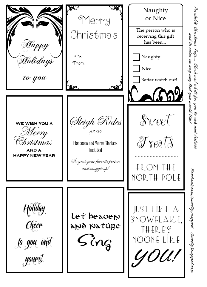 Genius image intended for printable christmas tags black and white