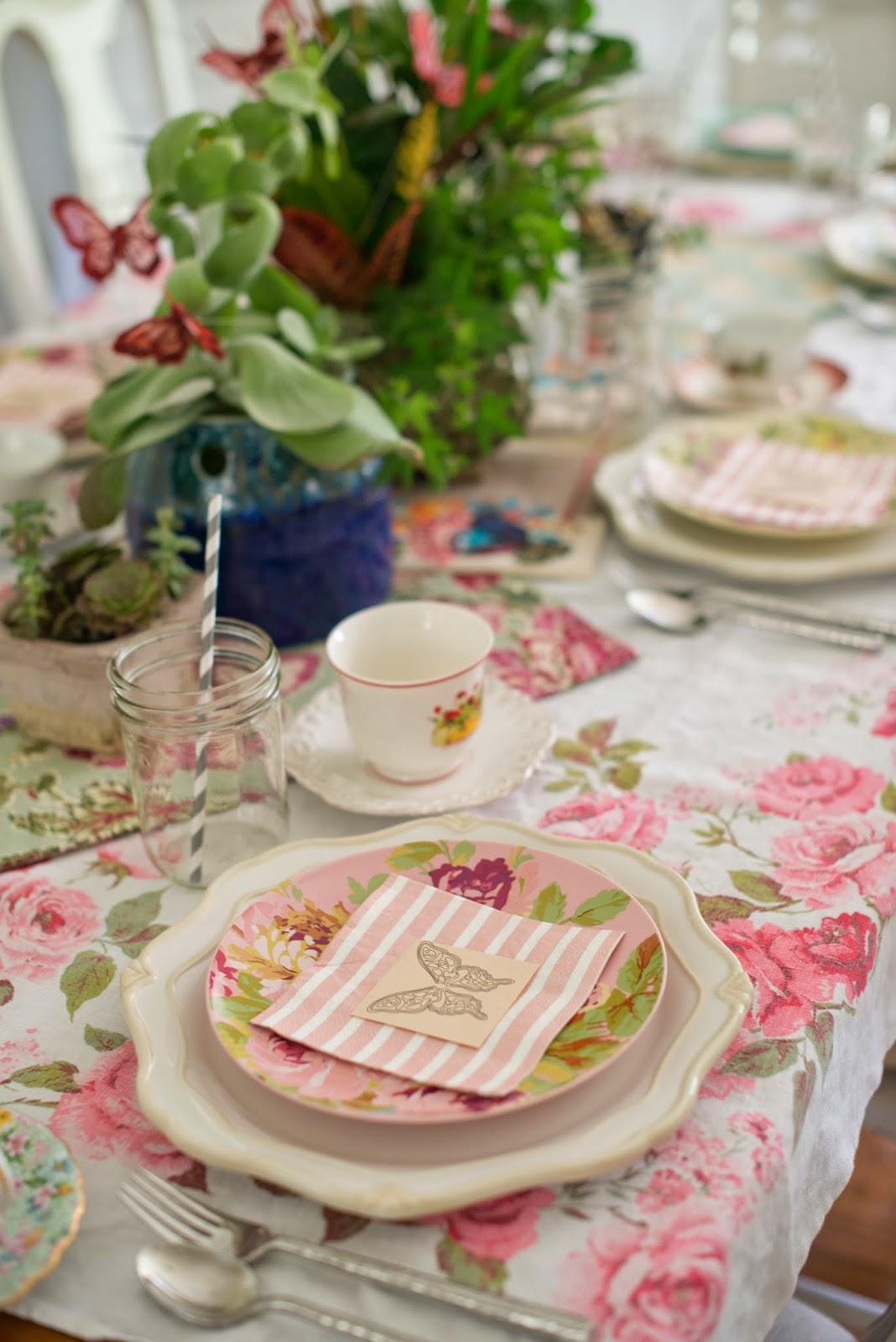 Domestic fashionista fairy garden tea party tablescape for Table 6 brunch denver