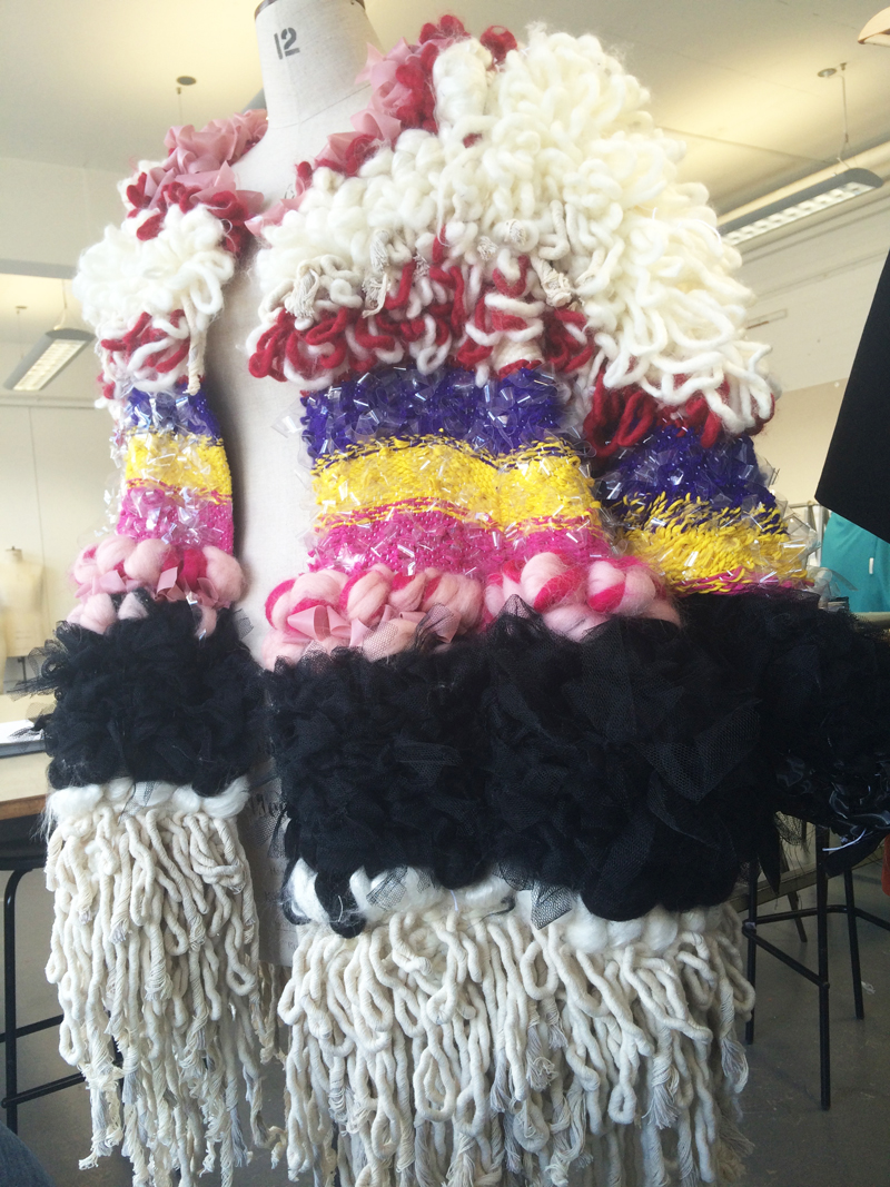 Lauren Pullen Graduate Fashion Week Woven Coat
