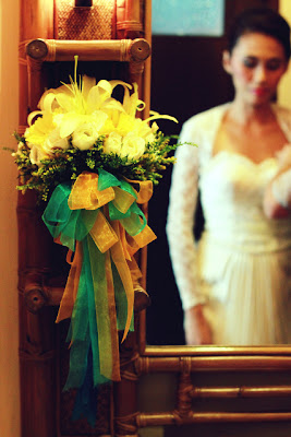 wedding at Bali-bali, Samal - bride getting dressed