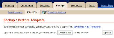 install blogger templates