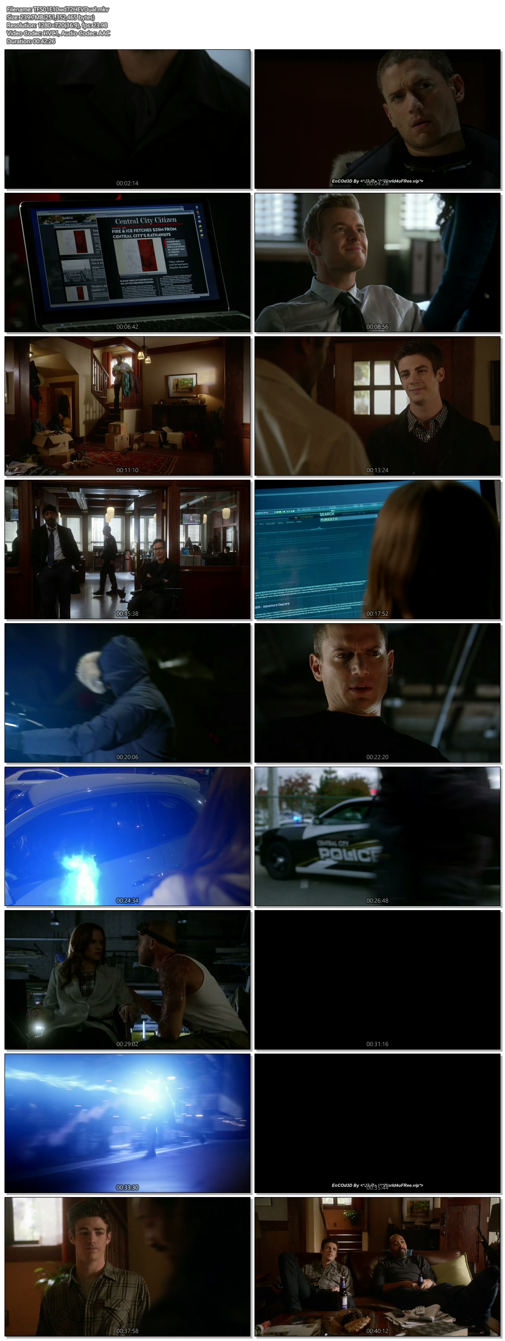 Screenshots Of Hindi Dubbed Show The Flash 2015 Season 01 Episode 10 300MB 720P HD