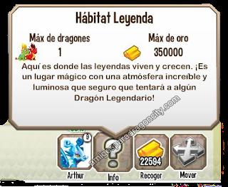 imagen de la proccion de oro del habitat leyenda de dragon city