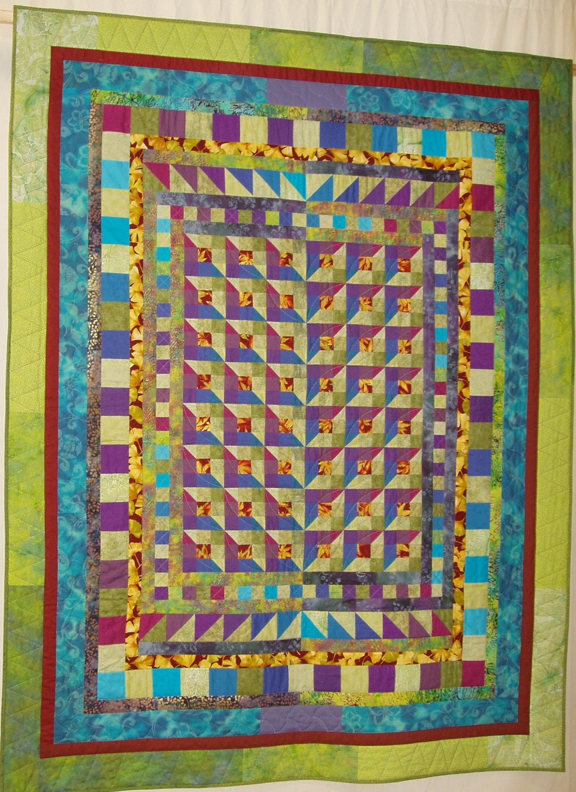 Sashiko And Other Stitching Garden Party Quilt In Popular