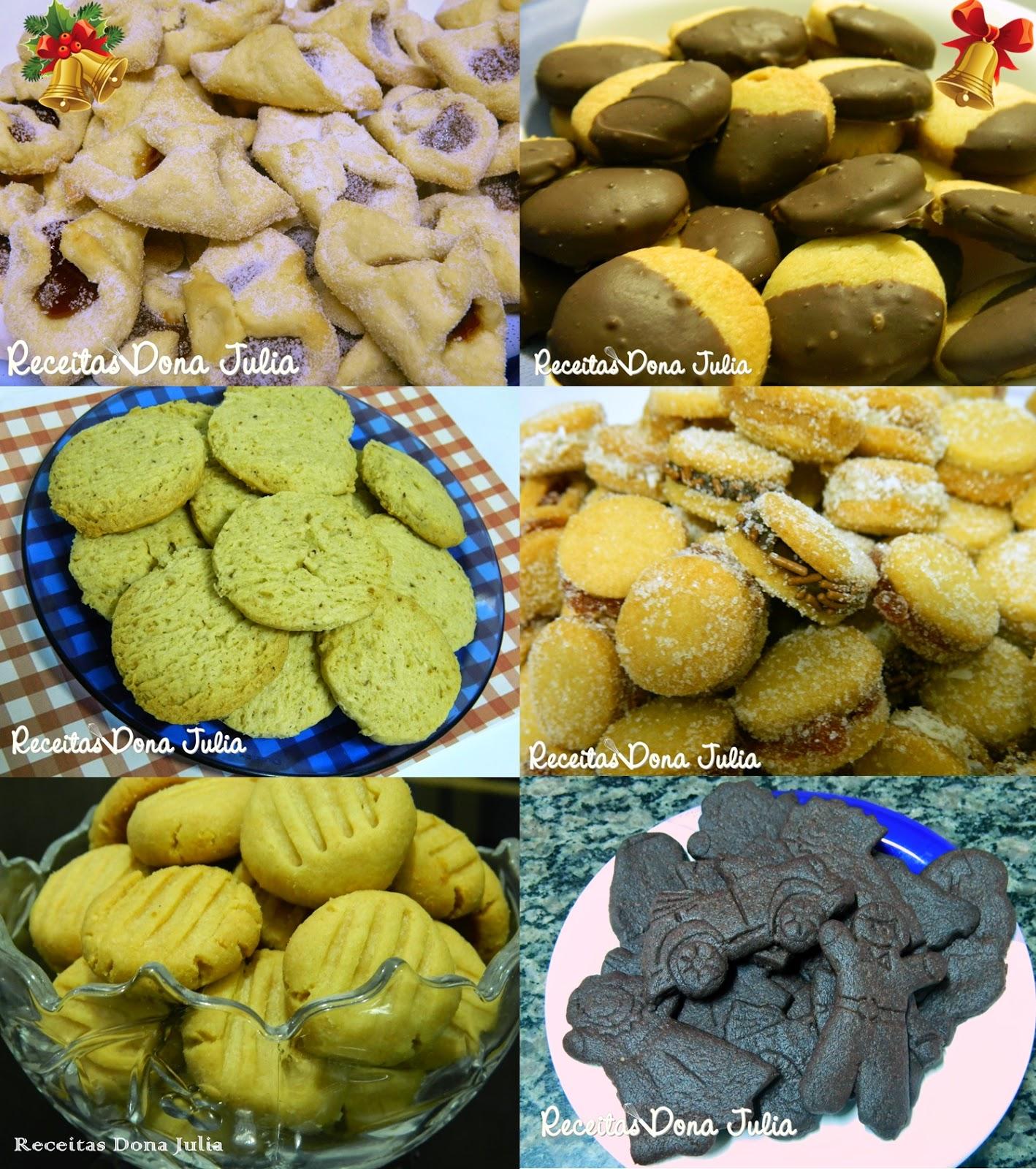 Seleção de biscoitos para o Natal
