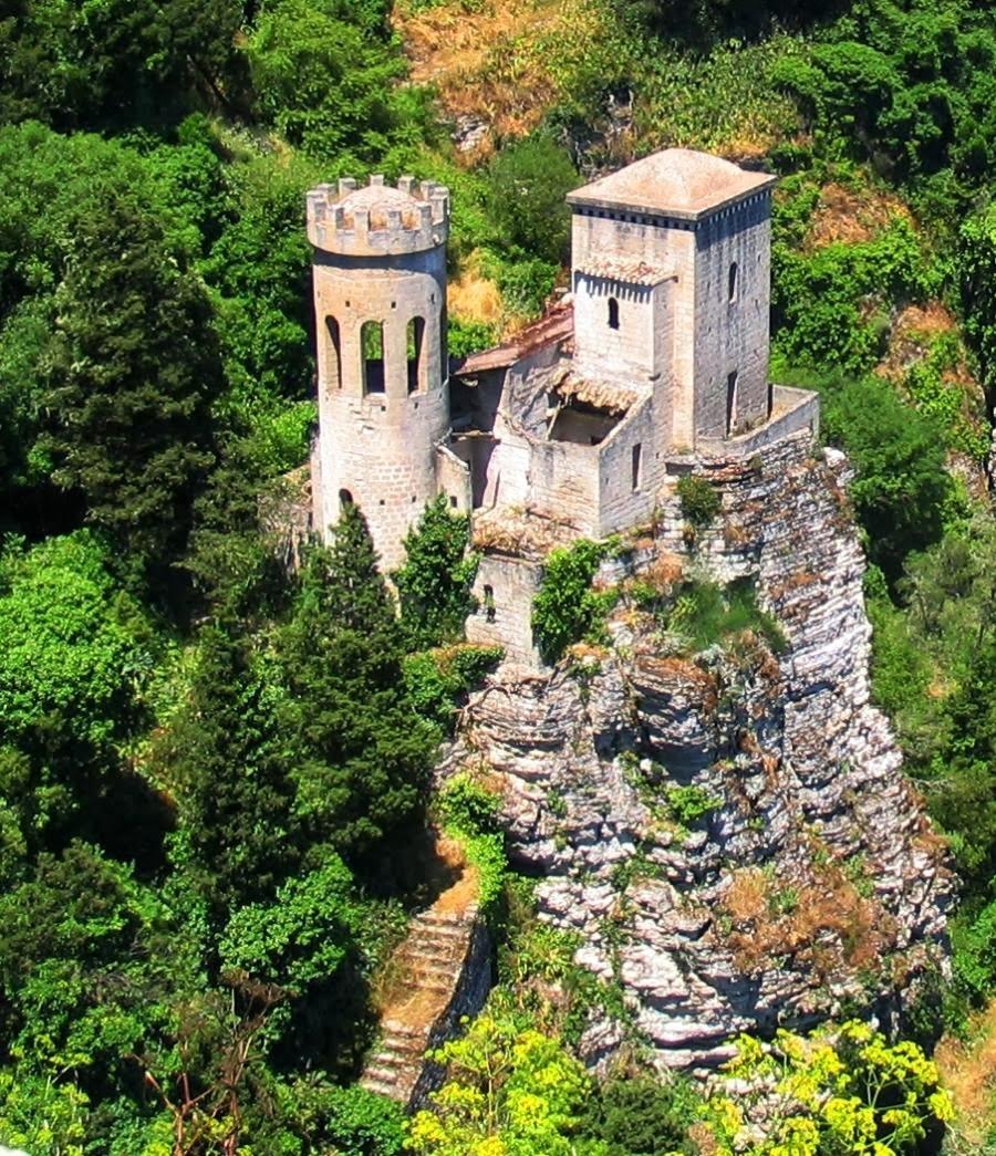 PEPOLI CASTLE, Erice, Sicily.