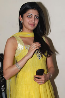 Praneetha Cute in yellow Dress Photos
