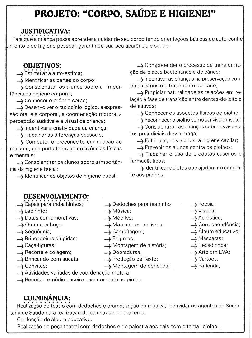 Muito ♥Sugestão De Atividade Escolar♥: Atividades Corpo- Higiene FK99