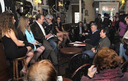 conferência de imprensa . café del rock . musas . o comissário . a vereadora e o presidente