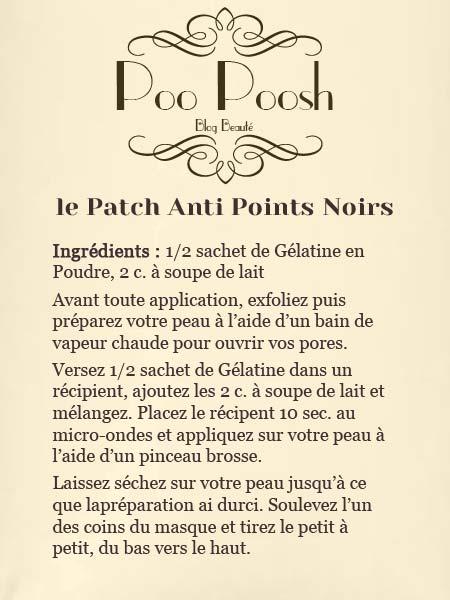 Patch point noir gelatin sheet