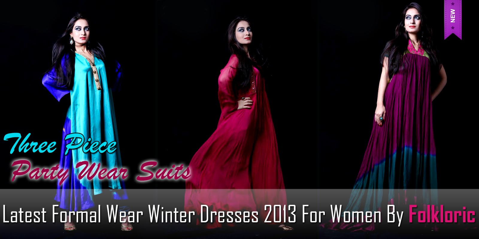 2013 For Women By Folkloric | Latest Party Wear Suits 2013 For Winter