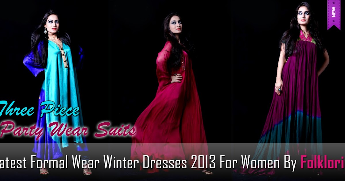 Latest Formal Wear Winter Outfits 2013 For Women By ...