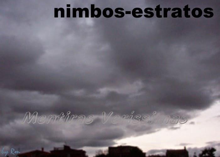 Nuvens nimbos-estratos (Ns) - baixas e estratifoemes