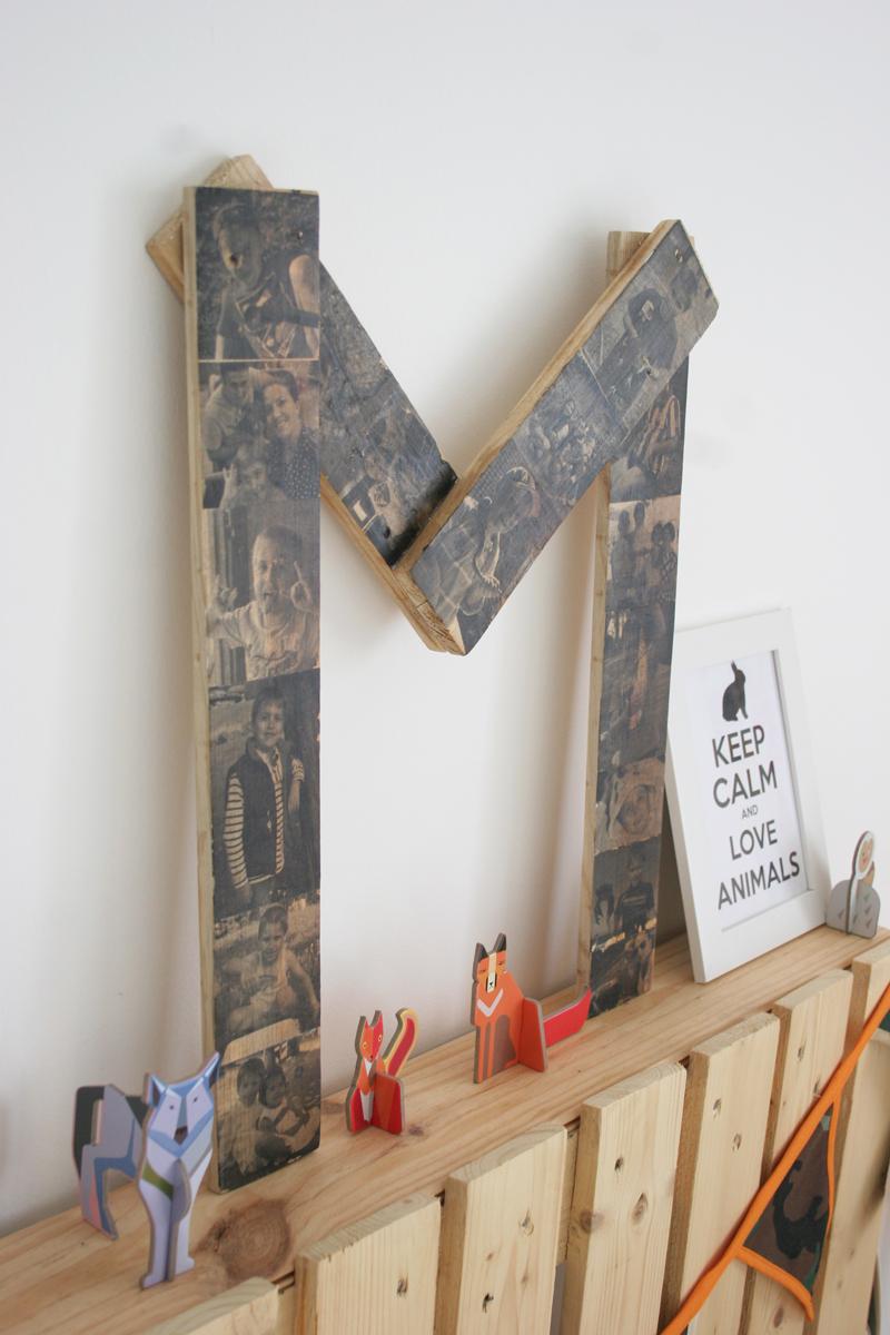 DEF Deco - Decorar en familia: Diy letra de madera con fotos10