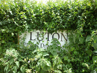The village sign for Luton in Devon