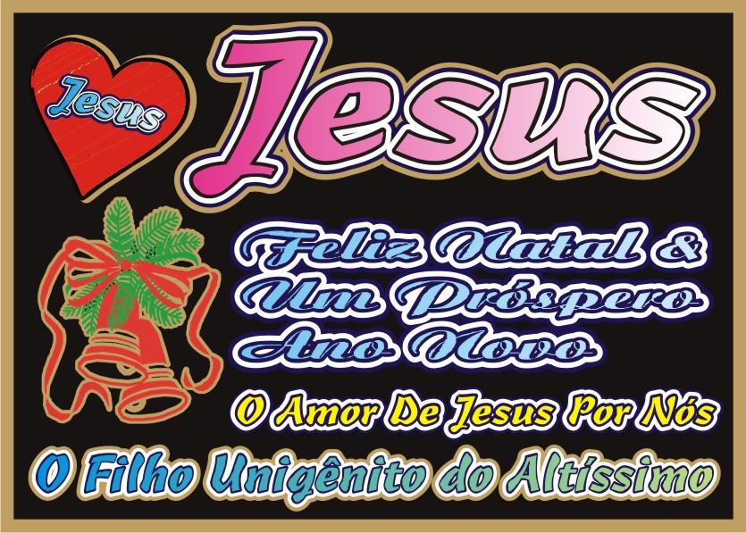 Feliz Natal e Próspero Ano Novo Jesus