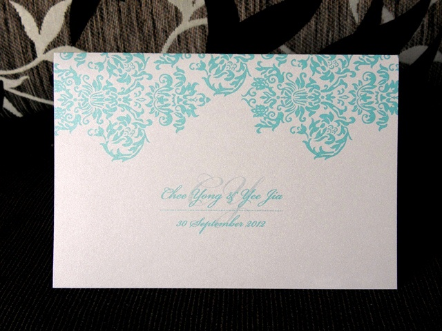 Wedding Photo Cover, photo cover, blue damask photo cover, blue damask