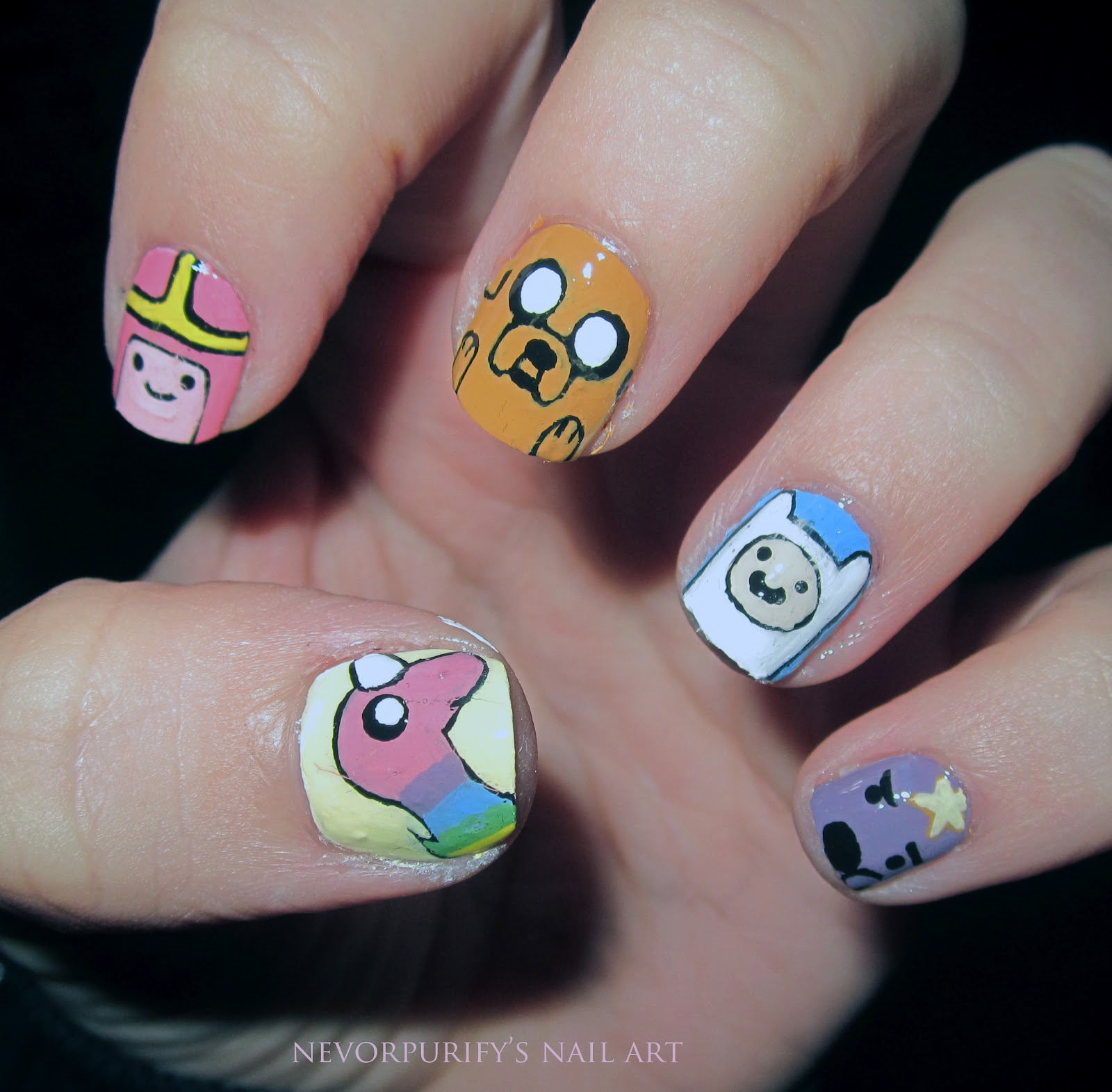 These Adventure Time Nails